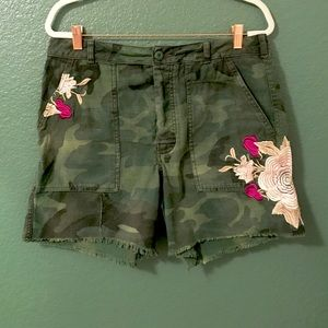 Free people embroidered camo short